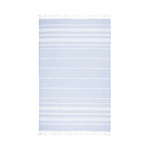 Prosop baie hammam Kate Louise Classic, 180 x 100 cm, albastru