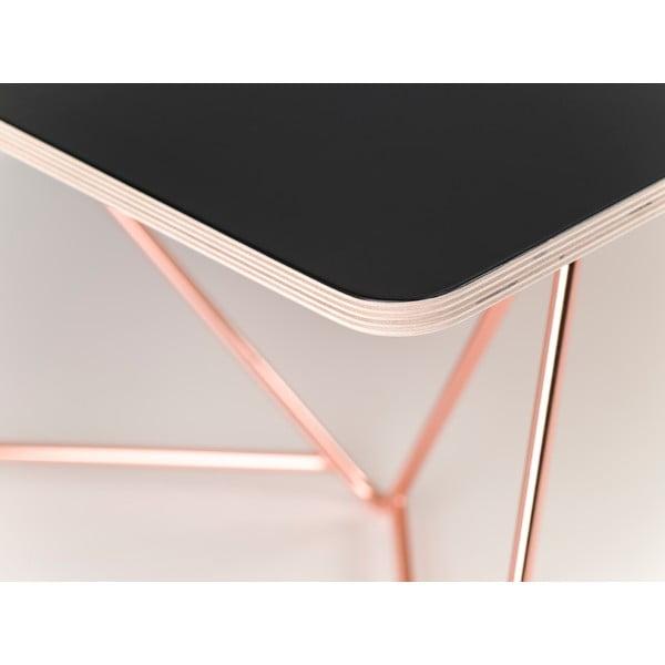 Černá deska ke konferenčnímu stolku Master & Master Coffee, 110x70cm