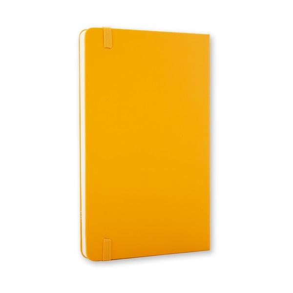 Žlutý zápisník Moleskine Hard, malý