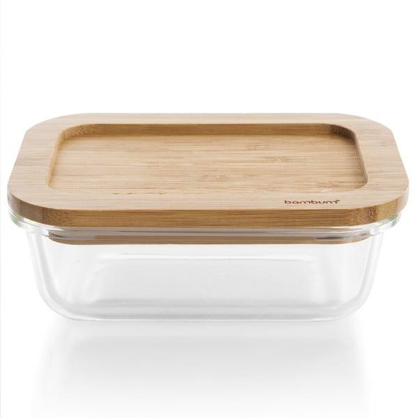 Skleněná dóza s bambusovým víkem Bambum Glass Storage Box, 1040 ml