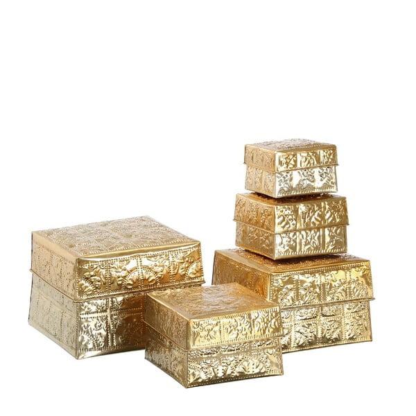 Set 5 boxů Golden Aluminium