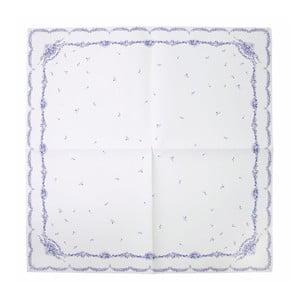 Papírový ubrus Porcelain Blue, 140x140 cm
