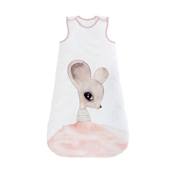Kojenecký spací pytel Tanuki Watercolor Mouse, délka 90 cm