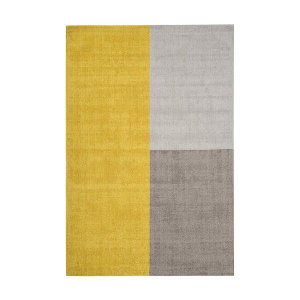 Žlto-sivý koberec Asiatic Carpets Blox, 160 x 230 cm