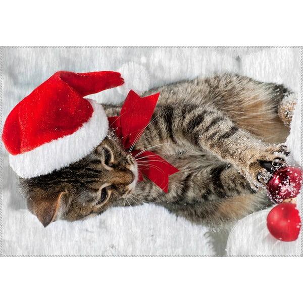Christmas Period Kitten szőnyeg, 50 x 80 cm - Vitaus