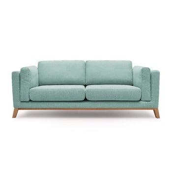 Canapea cu 3 locuri Bobochic Paris Enjoy, albastru deschis