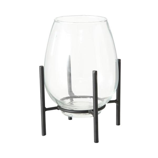 Szklany świecznik z czarną konstrukcją Boltze Taro