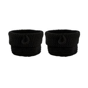 Sada 2 košíků Black, 13 cm