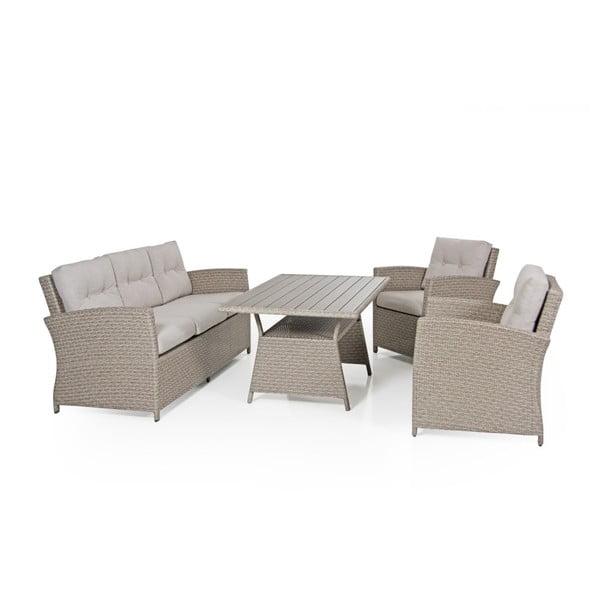 Béžová trojmístná zahradní sedačka Brafab Soho