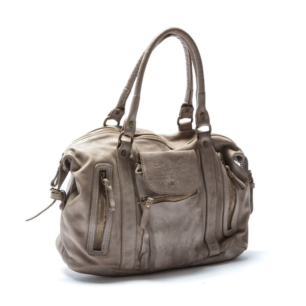 Kožená kabelka Mangotti 0001, kámen