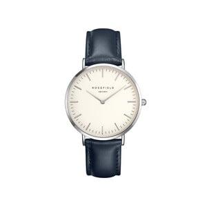 Stříbrnomodré dámské hodinky Rosefield The Bowery