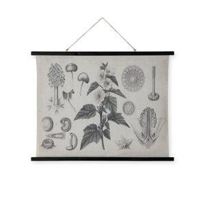 Nástěnná dekorace ze dřeva a lnu HF Living Bush, 100 x 76 cm