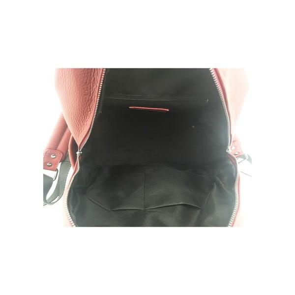 Kožený batoh Momo Red