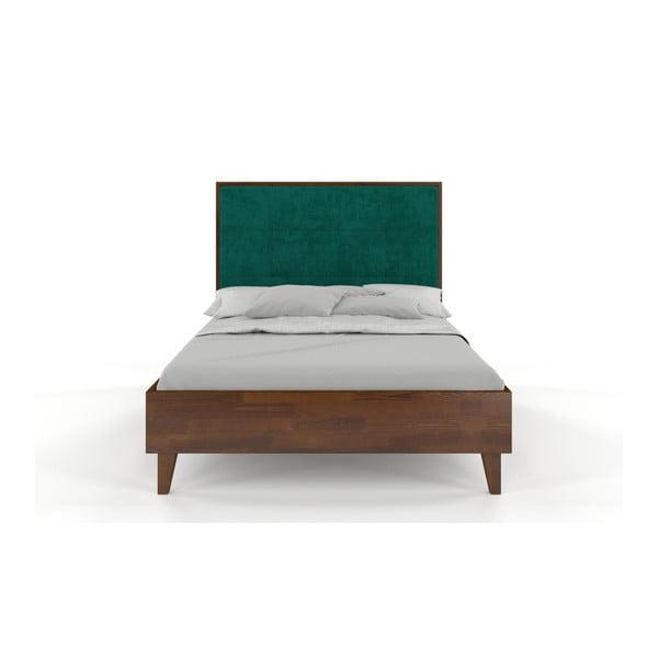 Dvoulůžková postel z masivního borovicového dřeva SKANDICA Frida Dark, 200 x 200 cm