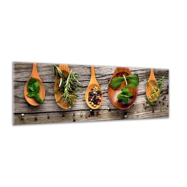 Obraz Styler Glasspik Kitchen Wooden Spoons, 30 x 80 cm