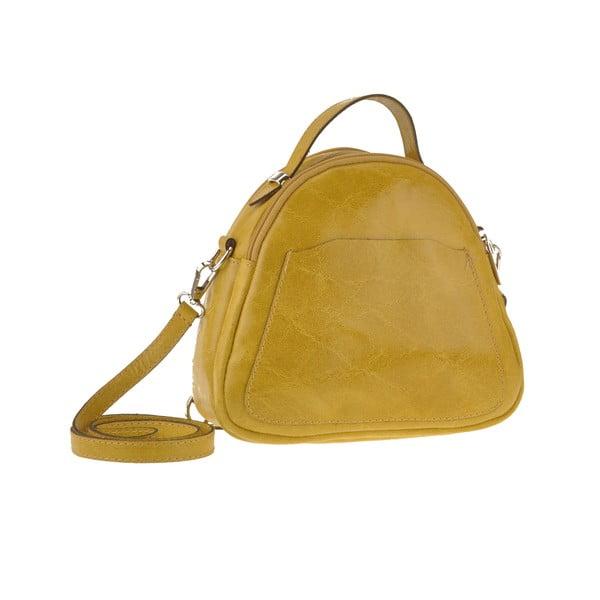 Žlutá kožená kabelka Men