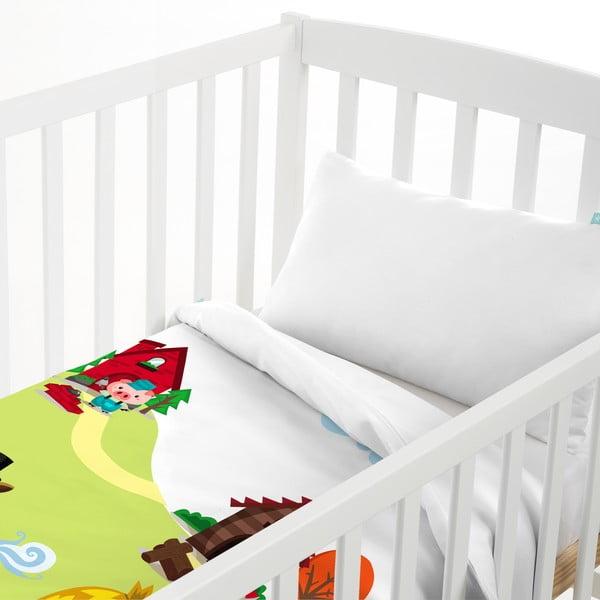 Dětský povlak na polštář a přehoz Mr. Fox Little Pigs, 100x130 cm