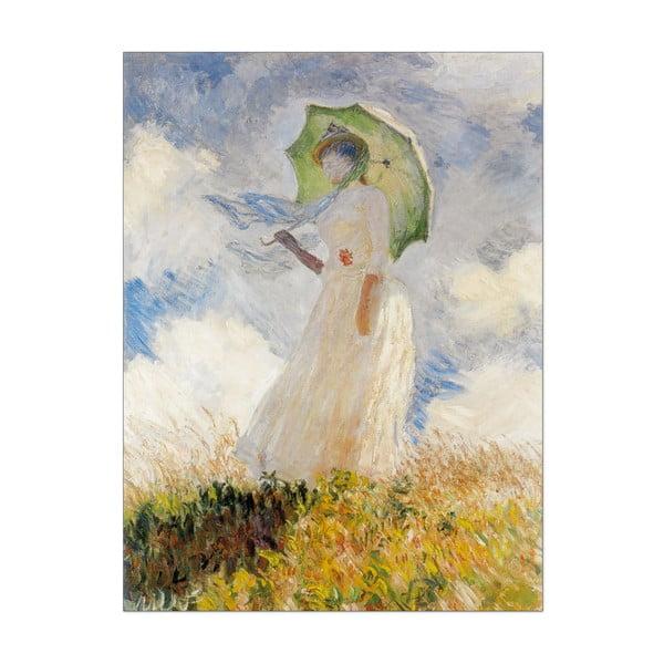 Obraz Monet - Lady with Umbrella, 60x80 cm