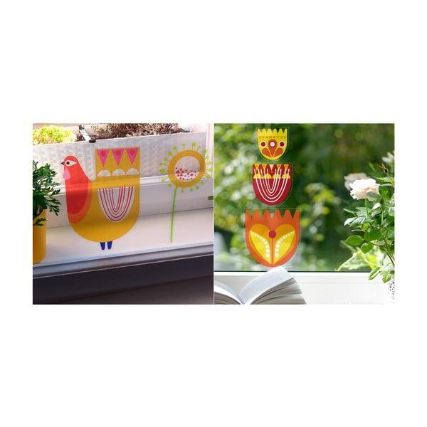 Přelepovací samolepka Oranžové tulipány se slípkou