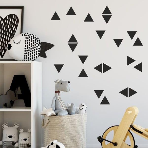 Triangle fekete öntapadós falmatrica szett - North Carolina Scandinavian Home Decors
