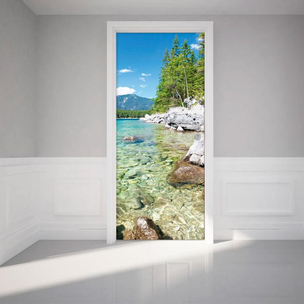 Adhezivní samolepka na dveře Ambiance Crystal Lake