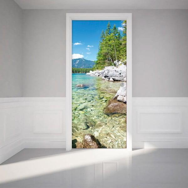 Elektrostatyczna naklejka na drzwi Ambiance Crystal Lake, 83x204 cm