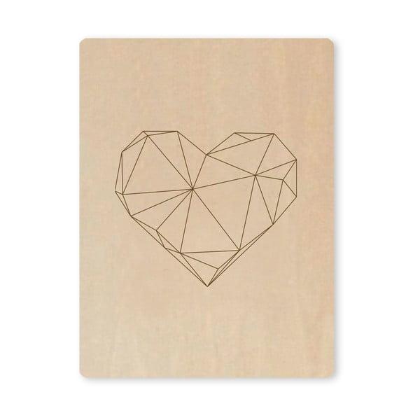 Obraz Novoform Artboard Engraved Heart, A7