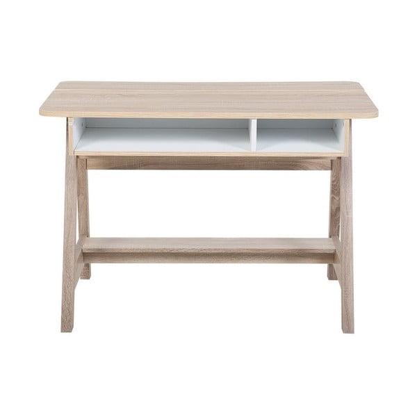 Pracovný stôl v dekore svetlého dreva Monobeli Marcedes