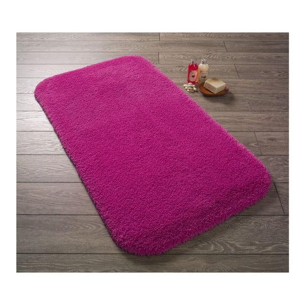 Fuchsiově růžová předložka do koupelny Confetti Miami, 100x160cm