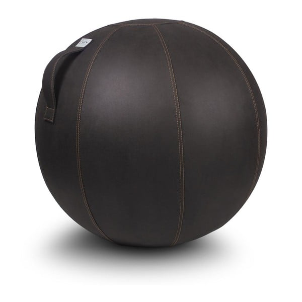 Tmavě hnědý sedací míč VLUV, 75 cm