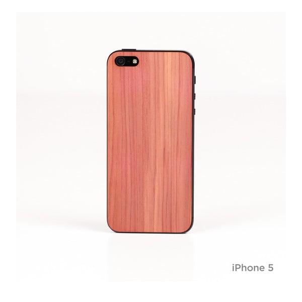 Nalepovací dřevěný kryt na iPhone 5, cedr