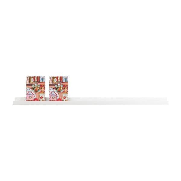 Raft de perete WOOOD Studio, 120 cm, alb