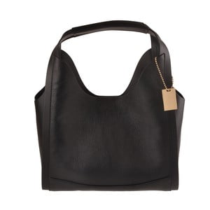 Černá kožená kabelka Florence Bags Maan