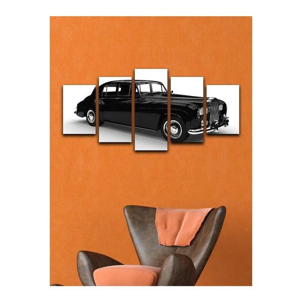 Vícedílný obraz Black&White Car