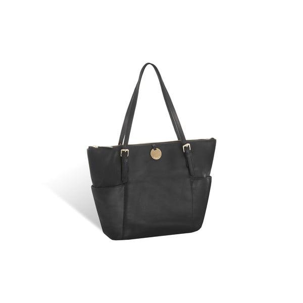 Kožená kabelka Valentini 509, černá