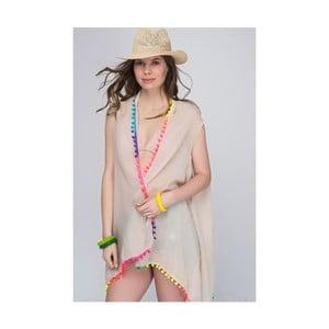 Béžová průhledná dámská tunika z čisté bavlny NW