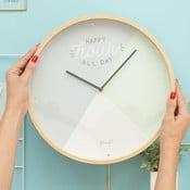 Nástěnné hodiny Mr. Wonderful Happy hour all day, průměr 35 cm