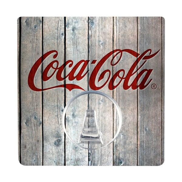 Cuier autoadeziv Wenko Static-Loc Coca-Cola Wood