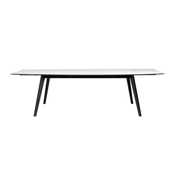 Černobílý dubový jídelní stůl Folke Ehcidna Preyo