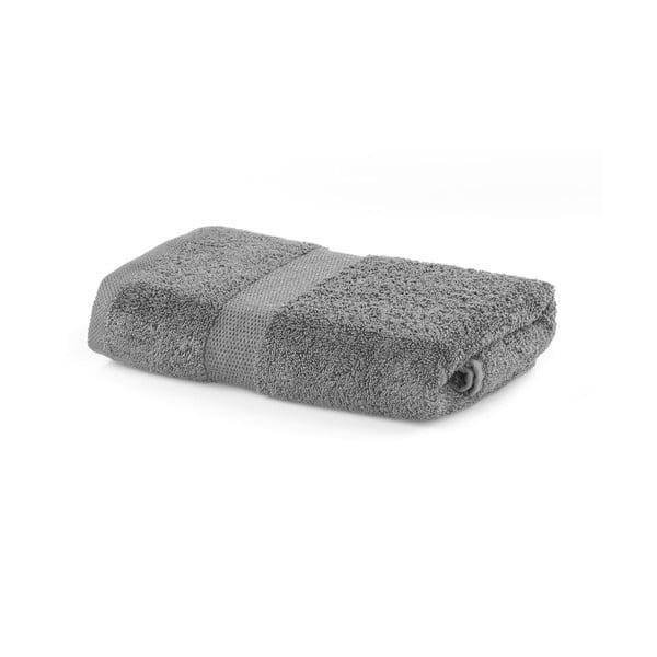 Szary ręcznik DecoKing Marina, 50x100 cm