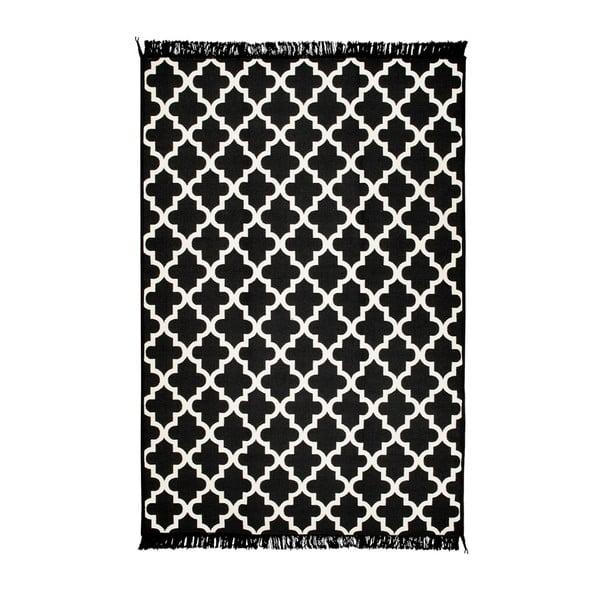 Madalyon fekete-fehér kétoldalas szőnyeg, 160 x 250 cm