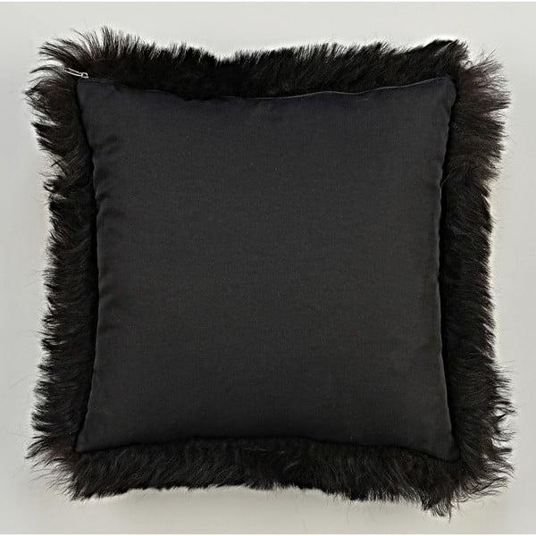 Kožešinový polštář s krátkým chlupem Blacky,35x35cm