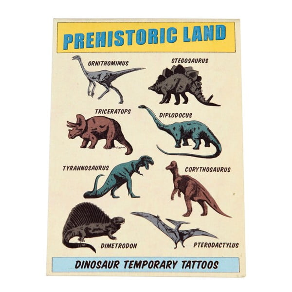 Set tatuaje temporare Rex London Prehistoric Land