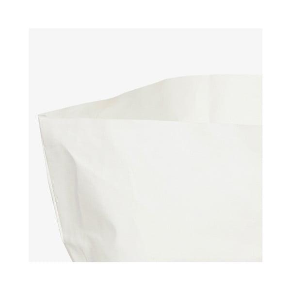 Suport pentru ghiveci din hârtie lavabilă Furniteam Plant, înălțime 30 cm, alb