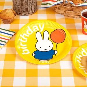 Sada 8 papírových talířů Neviti Miffy Birthday