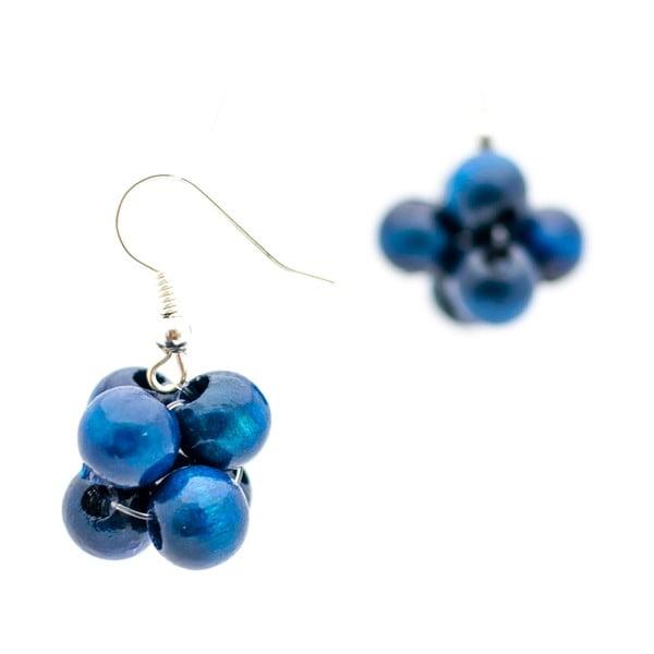 Cercei din lemn ko-ra-le Berries, albastru