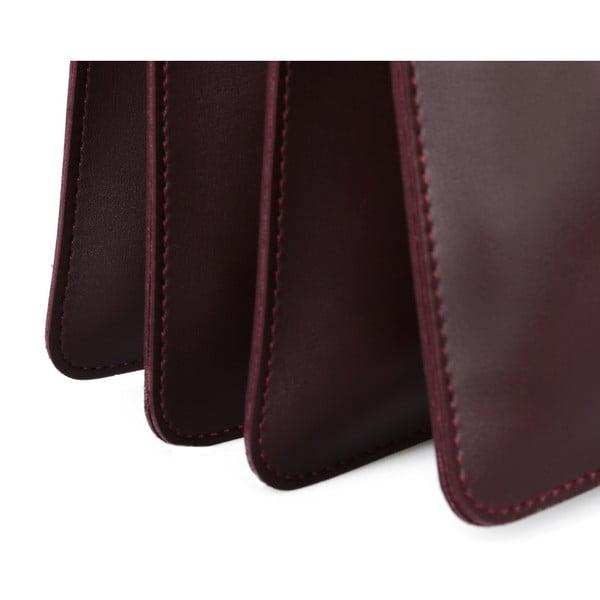 Tmavě červená kabelka z eko kůže Beverly Hills Polo Club Sylvia