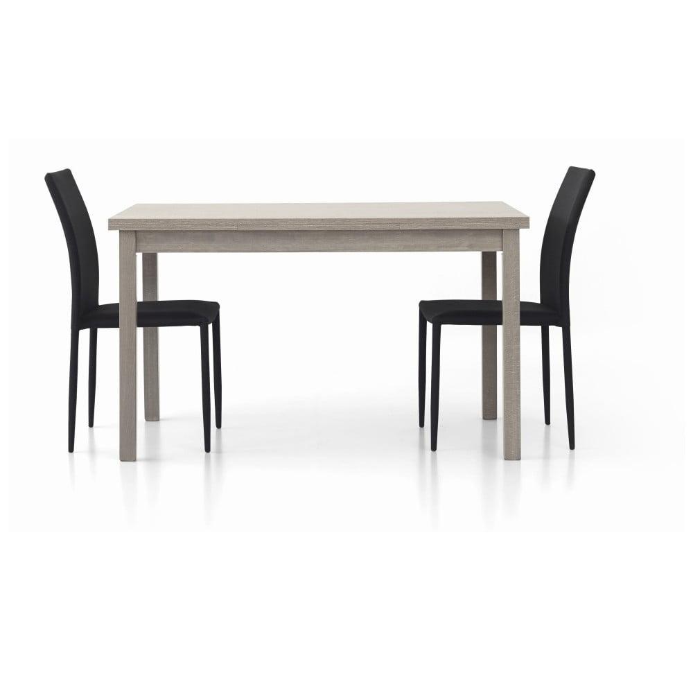 Šedý dřevěný rozkládací jídelní stůl Castagnetti Wyatt, 130 cm