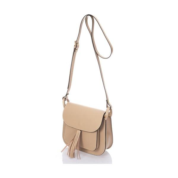 Béžová kožená kabelka Lisa Minardi Bycast