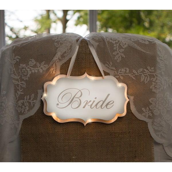 Svatební dekorace s LED světly Bride
